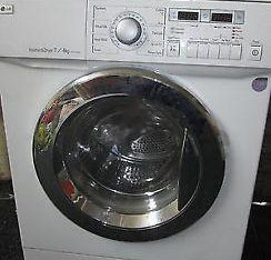 Lg Washing Machine 7/4 Kg For Sale 630 Dhs 6 Month Warranty