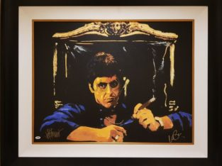 Say Hello to the Bad Guy Giclee signed By Al Pacino Scarface
