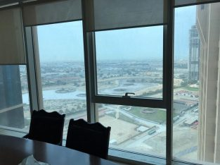 Churchill Tower /Stunning Office 01 Series BURJ KHALIFA view and Canal view